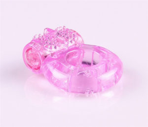 Jelly Stretchy Electronic Butterfly Cock Ring For Men