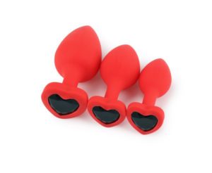 Heart Shaped Jewel Butt Plug Sex Toys