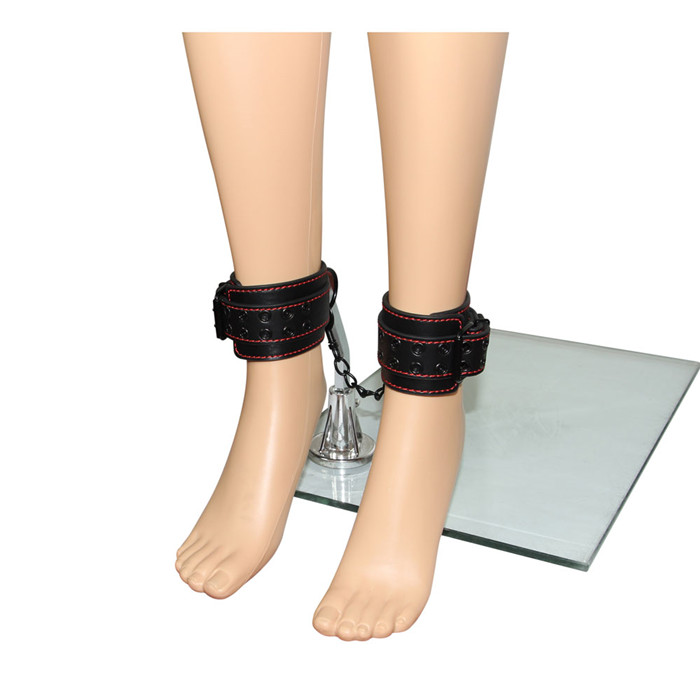 PU Leather Leg Cuffs Ankle Shackles Sex Toy